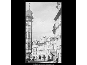 Pohled na Staroměstské náměstí (3799), Praha 1965 červen, černobílý obraz, stará fotografie, prodej