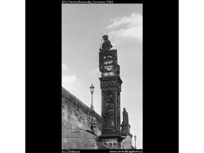 Socha Bruncvíka (3812), Praha 1965 červenec, černobílý obraz, stará fotografie, prodej