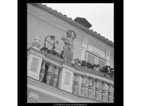 Domek J.Trnky (3816-2), Praha 1965 červenec, černobílý obraz, stará fotografie, prodej