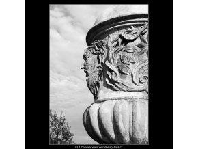 Obnovené vázy - zámek Troja (3823-2), Praha 1965 červenec, černobílý obraz, stará fotografie, prodej