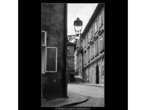 Pohled do Jánské ulice (3860), Praha 1965 srpen, černobílý obraz, stará fotografie, prodej