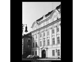 Budova japonského velvyslanectví (3948), Praha 1965 září, černobílý obraz, stará fotografie, prodej