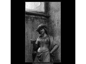 Socha (3977), Praha 1965 září, černobílý obraz, stará fotografie, prodej