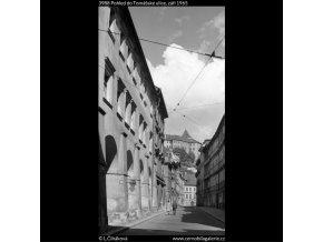 Pohled do Tomášské ulice (3988), Praha 1965 září, černobílý obraz, stará fotografie, prodej