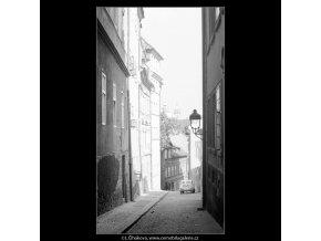Pohled z Jánské ulice (4020), Praha 1965 září, černobílý obraz, stará fotografie, prodej