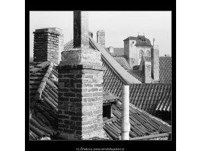 Staroměstské střechy (4127-1), Praha 1965 říjen, černobílý obraz, stará fotografie, prodej
