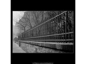 Mříže (4251), Praha 1966 leden, černobílý obraz, stará fotografie, prodej