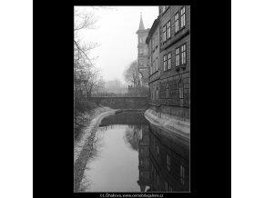 Oblouk u Smíchova (4284-18), Praha 1966 únor, černobílý obraz, stará fotografie, prodej