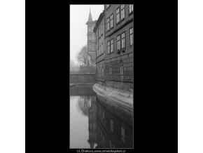 Oblouk u Smíchova (4284-19), Praha 1966 únor, černobílý obraz, stará fotografie, prodej