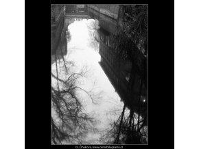 Odraz korun na hladině (4284-22), Praha 1966 únor, černobílý obraz, stará fotografie, prodej