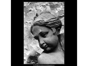 Detail plastiky (4315-1), Praha 1966 březen, černobílý obraz, stará fotografie, prodej