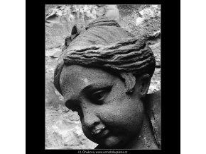 Detail plastiky (4315-2), Praha 1966 březen, černobílý obraz, stará fotografie, prodej