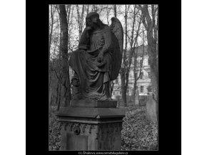 Malostranský hřbitov (4420-29), Praha 1966 březen, černobílý obraz, stará fotografie, prodej