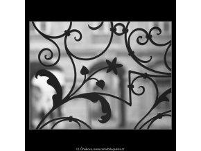 Ozdobná mříž (4482-3), Praha 1966 duben, černobílý obraz, stará fotografie, prodej