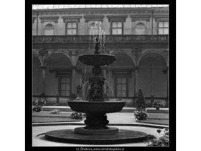 Zpívající fontána (2353-1), Praha 1963 červenec, černobílý obraz, stará fotografie, prodej