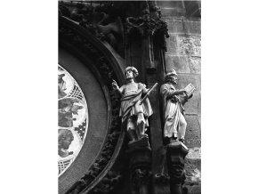 Figurky Staroměstského orloje (4653-1), Praha 1966 červenec, černobílý obraz, stará fotografie, prodej