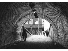 Vyústění tunelu na Vítkově (4662), Praha 1966 červenec, černobílý obraz, stará fotografie, prodej