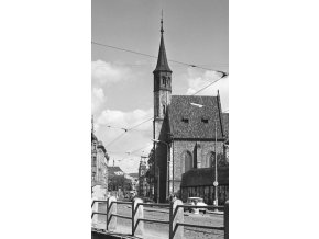 Kostel Panny Marie Na Slupi (4671-1), Praha 1966 srpen, černobílý obraz, stará fotografie, prodej