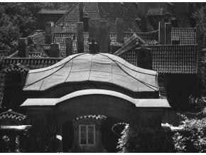 Pavilónek v Ledeburské zahradě (4677), Praha 1966 srpen, černobílý obraz, stará fotografie, prodej