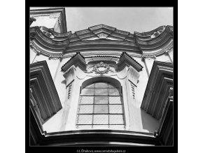 Kostel sv.Tomáše (4751), Praha 1966 srpen, černobílý obraz, stará fotografie, prodej