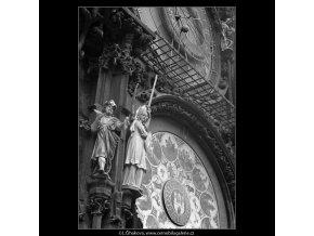 Staroměstský orloj (4778-1), Praha 1966 srpen, černobílý obraz, stará fotografie, prodej