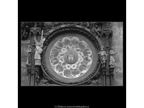 Staroměstský orloj (4778-3), Praha 1966 srpen, černobílý obraz, stará fotografie, prodej