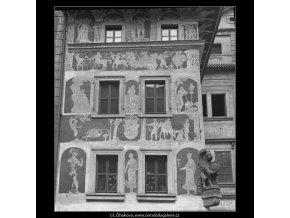 Sgraffita ze 17.stol. (4779-1), Praha 1966 srpen, černobílý obraz, stará fotografie, prodej