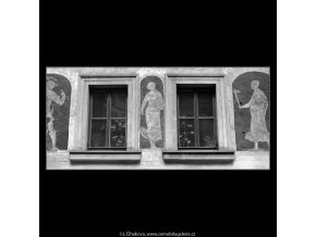Sgraffita ze 17.stol. (4779-2), Praha 1966 srpen, černobílý obraz, stará fotografie, prodej