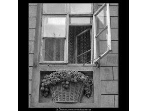 Okna a ozdoby (4844-3), Praha 1966 září, černobílý obraz, stará fotografie, prodej