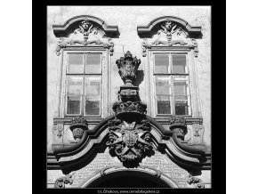 Pražské erby (4881), Praha 1966 říjen, černobílý obraz, stará fotografie, prodej