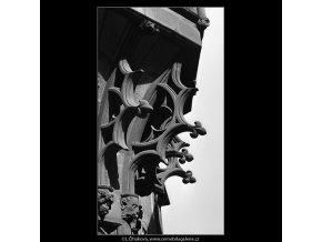 Arkýř Karolina (4884), Praha 1966 říjen, černobílý obraz, stará fotografie, prodej