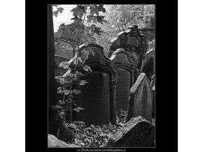 Starý židovský hřbitov (4929-1), Praha 1966 říjen, černobílý obraz, stará fotografie, prodej