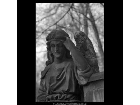 Z malostranského hřbitova (5099-7), Praha 1967 únor, černobílý obraz, stará fotografie, prodej