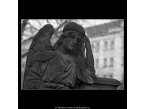 Z malostranského hřbitova (5099-8), Praha 1967 únor, černobílý obraz, stará fotografie, prodej