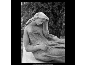 Vyšehradský hřbitov (5100), Praha 1967 únor, černobílý obraz, stará fotografie, prodej