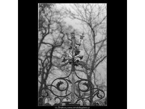 Z vyšehradského hřbitova (5106-2), Praha 1967 únor, černobílý obraz, stará fotografie, prodej
