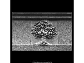 U Zlatého stromu (5110), Praha 1967 únor, černobílý obraz, stará fotografie, prodej