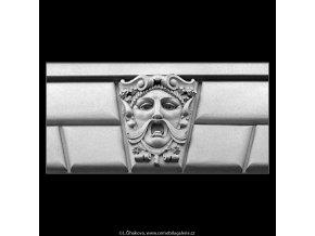 Maskaron (5130-1), Praha 1967 únor, černobílý obraz, stará fotografie, prodej