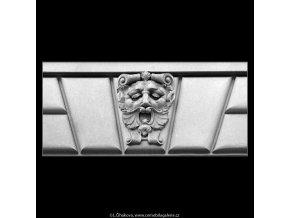 Maskaron (5130-4), Praha 1967 únor, černobílý obraz, stará fotografie, prodej
