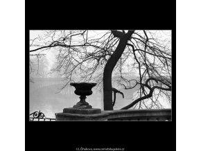 Ze Slovanského ostrova (5139), Praha 1967 únor, černobílý obraz, stará fotografie, prodej