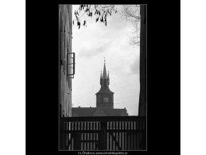 Staroměstská vodárenská věž (5188), Praha 1967 únor, černobílý obraz, stará fotografie, prodej