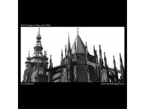 Chrám sv.Víta (5191), Praha 1967 únor, černobílý obraz, stará fotografie, prodej