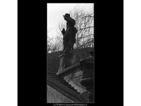 Schodiště (5193-3), Praha 1967 březen, černobílý obraz, stará fotografie, prodej