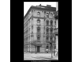 Domy před zbouráním či rekonstrukcí (5196-2), Praha 1967 březen, černobílý obraz, stará fotografie, prodej