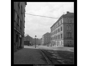 Domy před zbouráním či rekonstrukcí (5196-66), Praha 1967 březen, černobílý obraz, stará fotografie, prodej