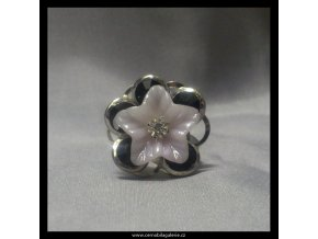 Prsten Květ černý