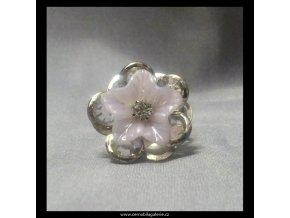 Prsten Květ čirý