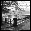 Zábradlí, pylony, rybář (1851), žánry - Praha 1962 říjen, černobílý obraz, stará fotografie, prodej