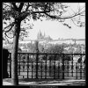 Pražský hrad (3273-4B), Praha 1964 říjen, černobílý obraz, stará fotografie, prodej