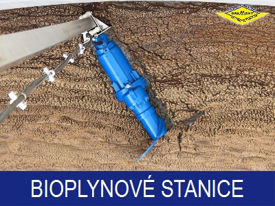 Čerpadla a míchadla pro bioplynové stanice
